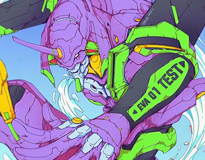 EVA01 - Neon Genesis Evangelion - Print/Poster