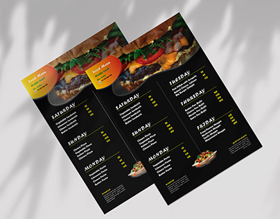 Attractive Food Menu Flyer Fesign