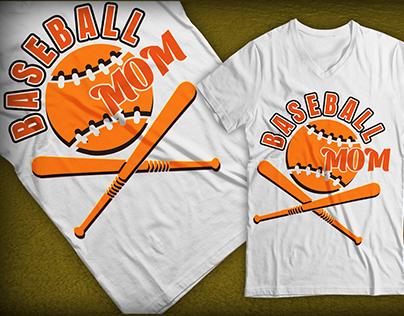 Sport t shirt design Baseball concept