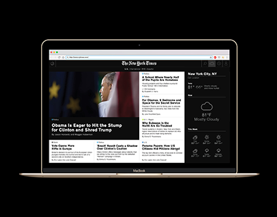 The New York Times / Web redesign