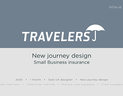 New Journey design/flow for Travelers Insurance