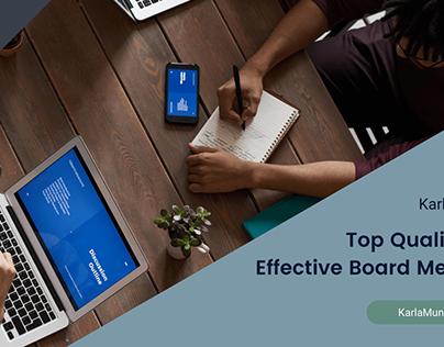 Top Qualities of Board Members | Karla Munden