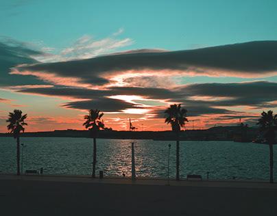 Grainy Sunset in Alicante