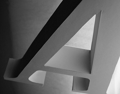 "3D Letterform: Meta Serif ""A"""