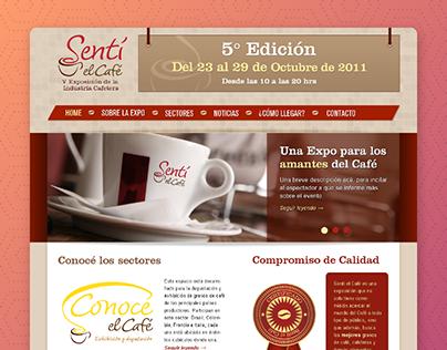 Sentí Café - Web Design v1