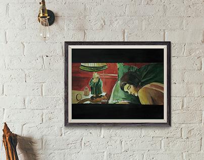 Amelie Illustration painting