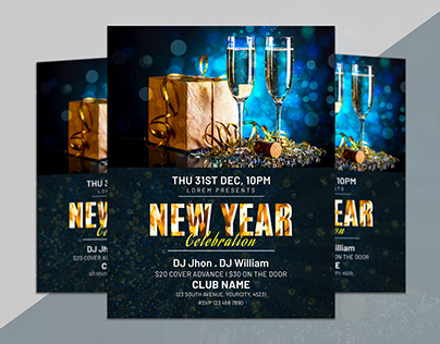 New Year Flyer Design