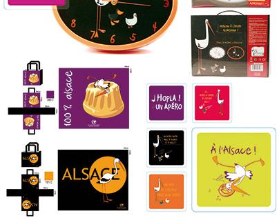 Illustrations et packaging sur l'Alsace
