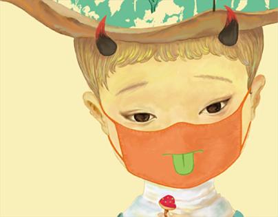 有时候我想 childhood autism Illustration