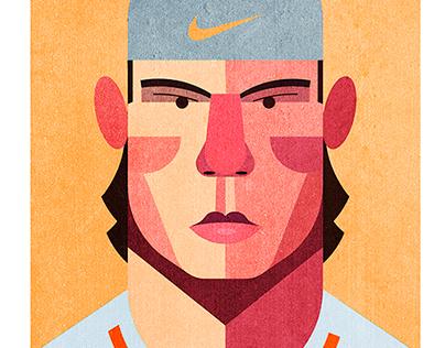 Illustración Rafael Nadal para Forbes nº 15