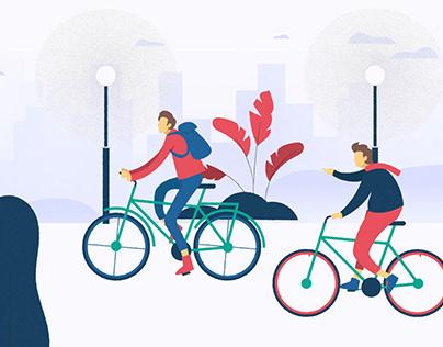 Motion Design Trainings #2 -A vélo