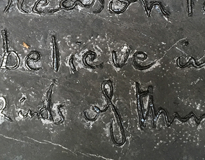 Text on stone