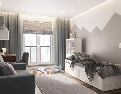 Сhildren's room interior design.