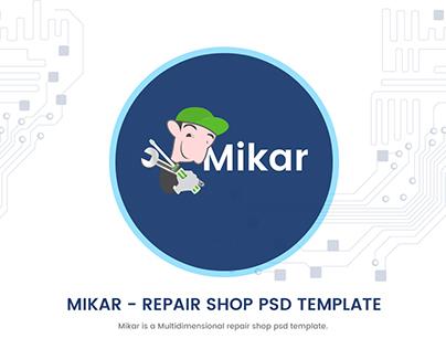 Mikar - Repair Shop PSD Template