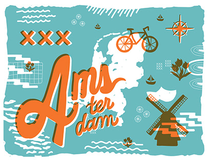 Amsterdam Travel Posters