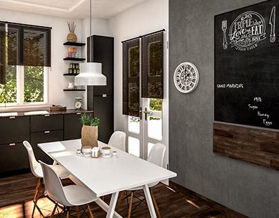 Kitchen.. #Shelves #Table #window #sun #Wood #Tree