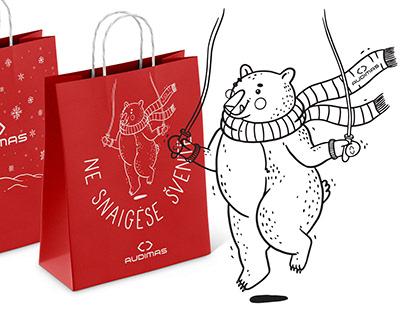 Illustration   Audimas winter collection's bag design