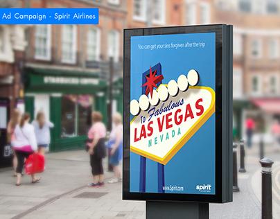 Graphic Design - Spirit Airlines Ads