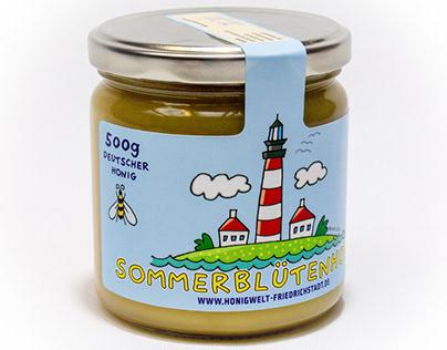 Etikettengestaltung Honigwelt