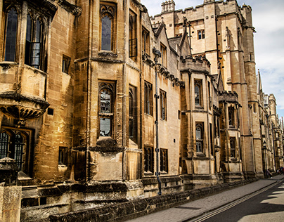Oxford Town and Collage in Oxfordshire England.