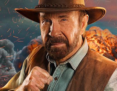 Chuck Norris / Campaign / Movistar Play Full