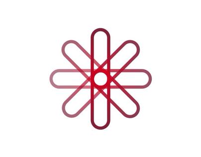 Circle rounded rectangle logo