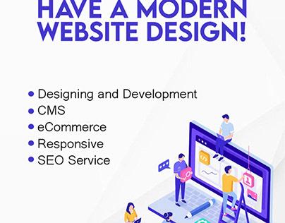 Have a modern website design