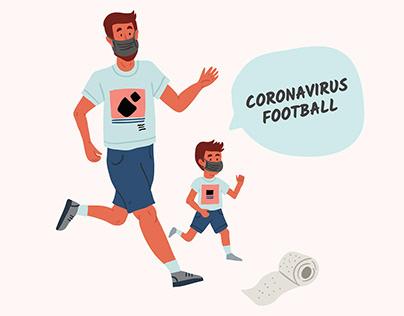 Pandemic coronavirus. Stay home posters