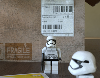 LEGO storm trooper 3d character modeling