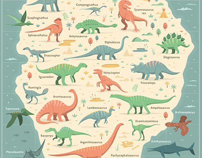 Illustrated Dinosaur Chart