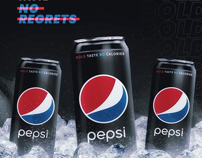pepsi black - advertising design
