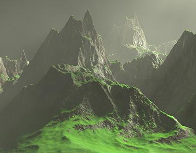 Rock Mountain in Cinema 4D