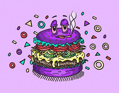 Illustration — High Meat Burger