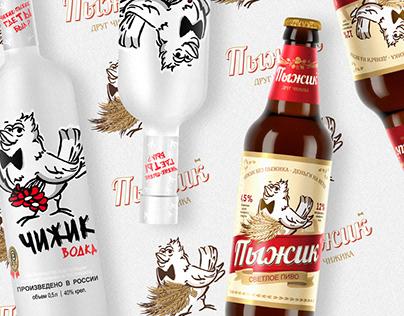 Пиво Пыжик - Водка Чижик