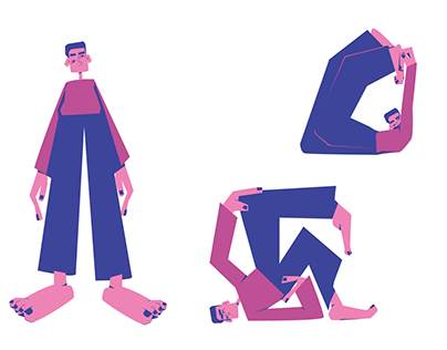 Illustration character poses