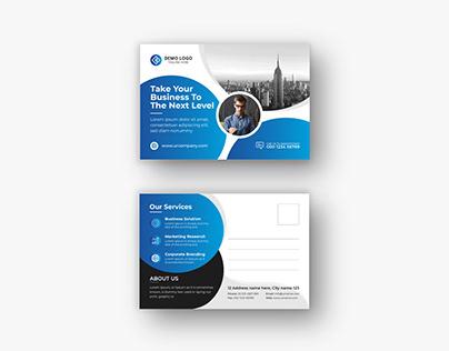 Corporate Modern Postcard or eddm Postcard design vol-6