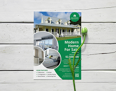 Professional and eye catching real estate flyer Design
