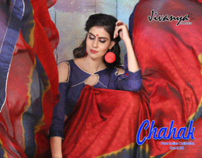 Chahak, by Jivanya Sarees