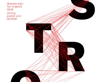 Strong poster for Poster Jam Instagram