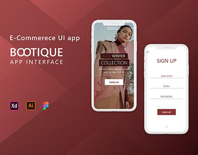 Bootique - Mobile app/ E-commerce app interface