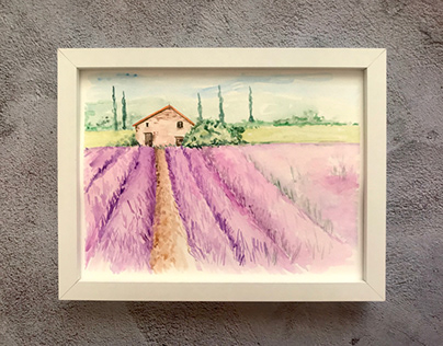 Provence, watercolor