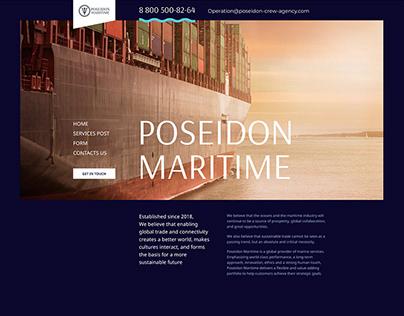 Poseidon landing page