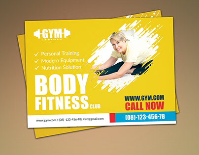GYM POSTCARD DESIGN