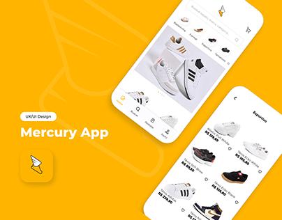 UX/UI de App de Sapatos - Mercury