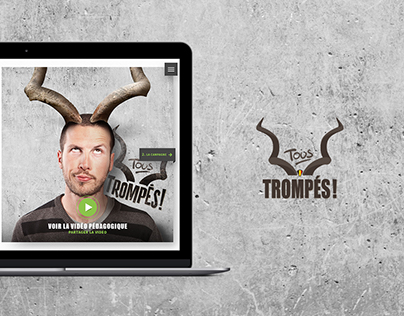 Tous trompés ! - Website design