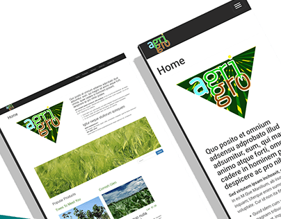 AgriGro Drupal 8 Theming w/ Responsive Products View