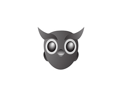 Owl Black And gray 3D Design