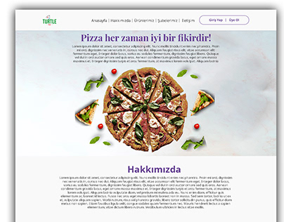 Turtle Pizza Web Site Design