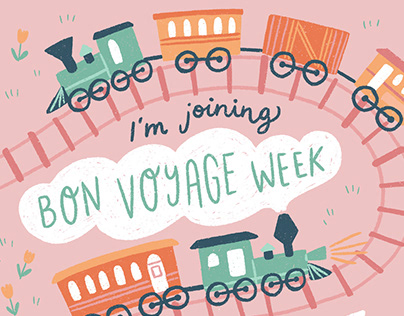 Bon Voyage Week - Fun & Colourful Illustrations