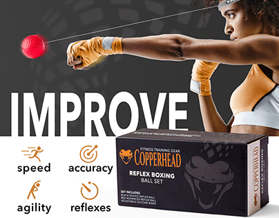 Copperhead Fitness - Package design and Amazon ads